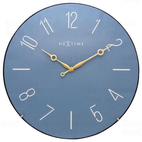 Dizajnové nástenné hodiny 3158bl Nextime Trendy Dome 35cm