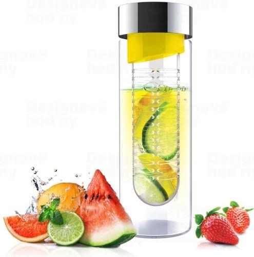 ASOBO sklenená fľaša s Infuser Flavour IT yellow & silver 480ml