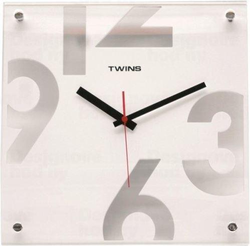 Nástenné hodiny Twins 5080 white 30cm