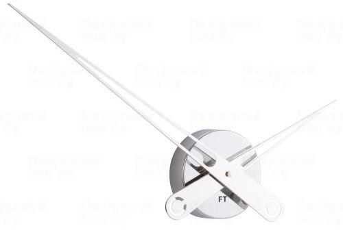 Dizajnové nástenné hodiny Future Time FT9650CH Hands chrome 60cm