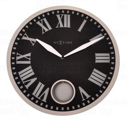 Dizajnové nástenné kyvadlové hodiny 8161 Nextime Romana 43cm