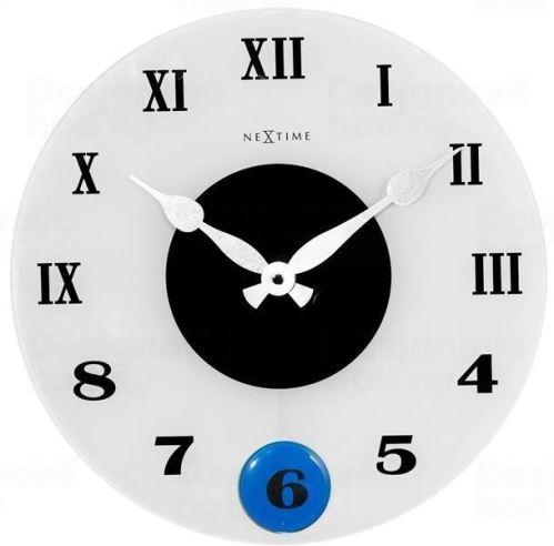 Dizajnové nástenné kyvadlové hodiny 8635 Nextime Milano Color 35cm