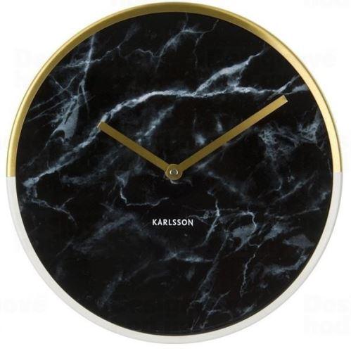 Dizajnové nástenné hodiny 5606BK Karlsson 30cm