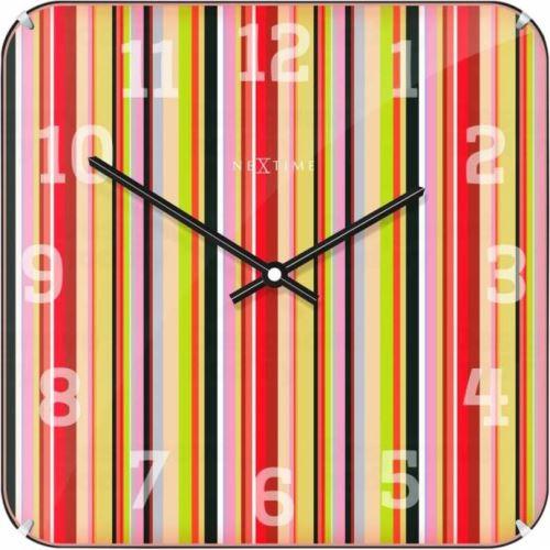 Dizajnové nástenné hodiny 3169 Nextime Smithy Dome Square 35cm