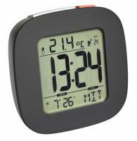Digitálny rádiom riadený budík s ukazovateľom vnútornej teploty a podsvietením TFA 60.2542.10 - antracit
