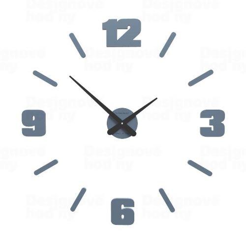 Dizajnové hodiny 10-305 CalleaDesign Michelangelo M 64cm (viac farebných verzií) Farba antracitová čierna - 4