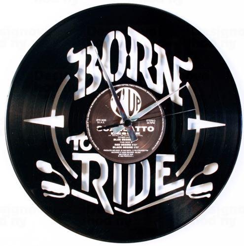Dizajnové nástenné hodiny Discoclock 099 Born to ride 30cm