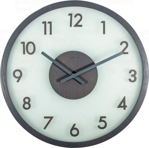 Dizajnové nástenné hodiny 3205gs Nextime Frosted Wood 50cm
