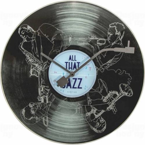 Dizajnové nástenné hodiny 8184 Nextime The Jazz 43cm