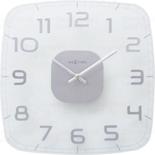 Dizajnové nástenné hodiny 8816tr Nextime Classy square 30cm