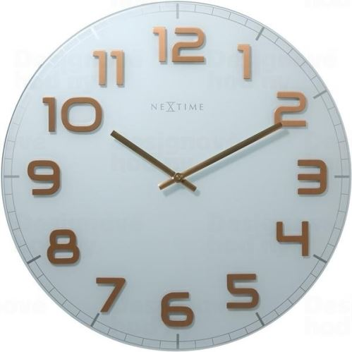Dizajnové nástenné hodiny 8817wc Nextime Classy round 30cm