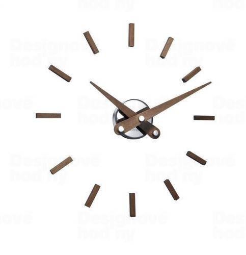Dizajnové nástenné hodiny Nomon Sunset 50cm Nomon verzia orech drevo / chróm