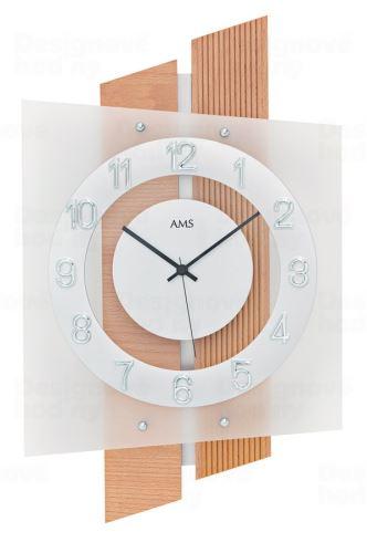 Dizajnové nástenné hodiny 5530 AMS riadené rádiovým signálom 46cm