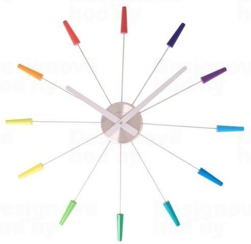 Dizajnové nástenné hodiny 2610di Nextime PLUG INN color 60cm