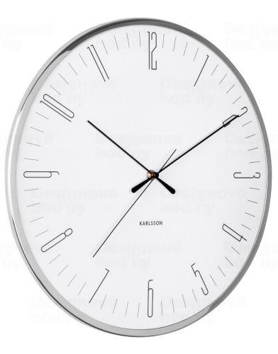 Dizajnové nástenné hodiny 5754WH Karlsson 40cm