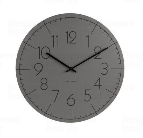 Dizajnové nástenné hodiny KA5592GY Karlsson 40cm
