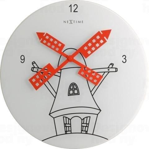 Dizajnové nástenné hodiny 8807 Nextime WINDMILL 30cm