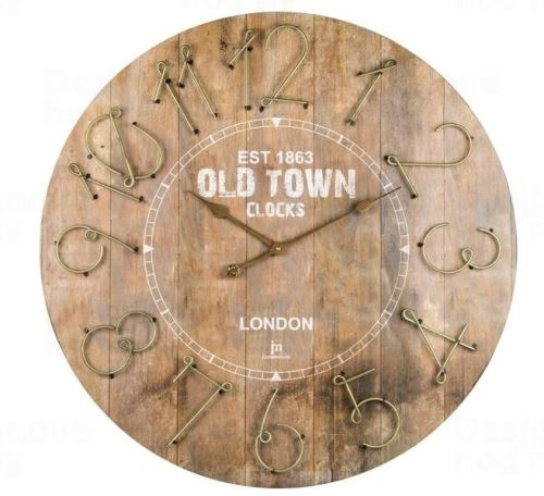 Dizajnové nástenné hodiny 21464 Lowell 68cm