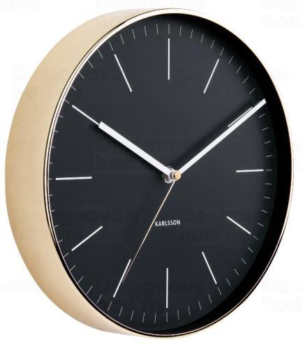 Dizajnové nástenné hodiny 5695BK Karlsson 28cm
