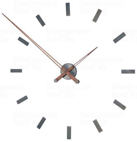 Dizajnové nástenné hodiny Nomon Taçon Graphite 100cm