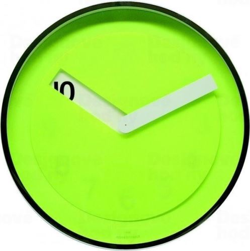 Nástenné hodiny Twins 08 green 30cm