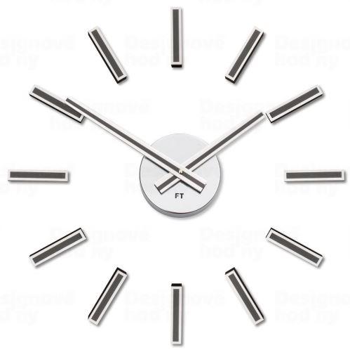 Dizajnové nalepovacie hodiny Future Time FT9400TT Modular titanium 40cm