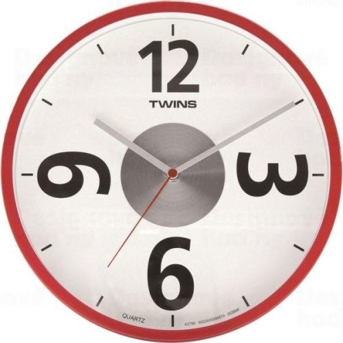 Nástenné hodiny Twins 2789 red 26cm
