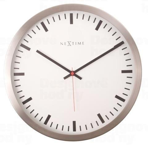 Dizajnové nástenné hodiny 2522 Nextime Stripe White 34cm