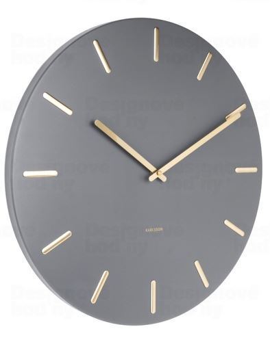 Dizajnové nástenné hodiny 5716GY Karlsson 45cm