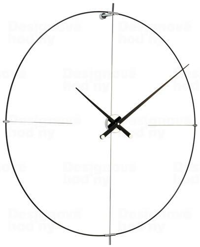 Dizajnové nástenné hodiny Nomon Bilbao L čierne 110cm