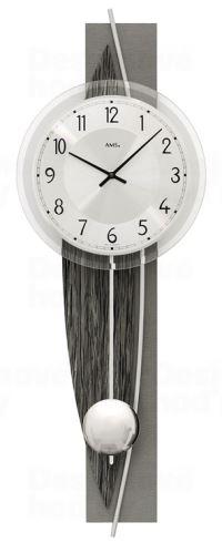 Dizajnové nástenné kyvadlové hodiny 7458 AMS 67cm