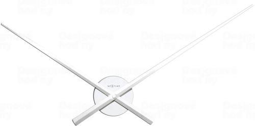 Dizajnové nástenné hodiny 3118wi Nextime Hands biele 70cm