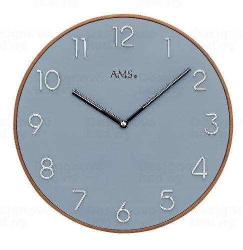 Dizajnové nástenné hodiny 9564 AMS 30cm