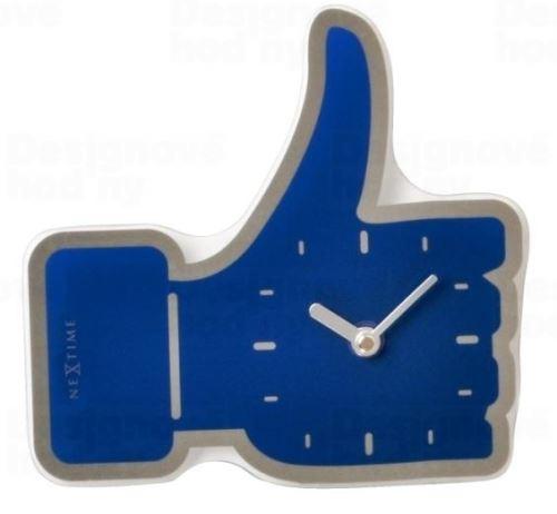 Dizajnové nástenné hodiny 5185bl Nextime mini Facebook Like 21cm