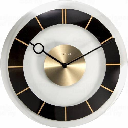 Dizajnové nástenné hodiny 2790zw Nextime Retro Black 31cm