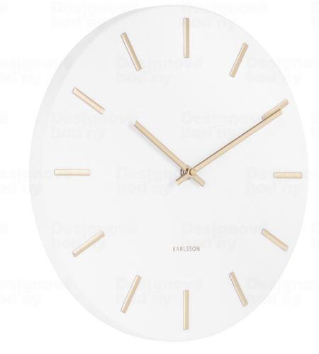 Dizajnové nástenné hodiny 5821WH Karlsson 30cm