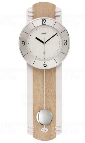 Kyvadlové nástenné hodiny 5291 AMS riadené rádiovým signálom 60cm