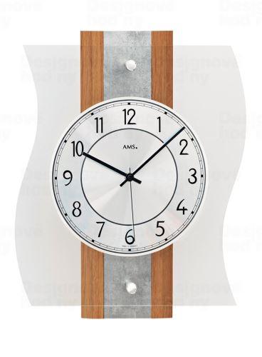 Dizajnové nástenné hodiny 5537 AMS riadené rádiovým signálom 36cm