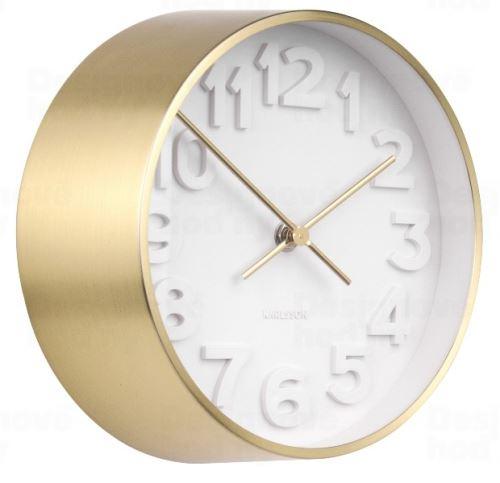 Dizajnové nástenné hodiny 5692GD Karlsson 22cm