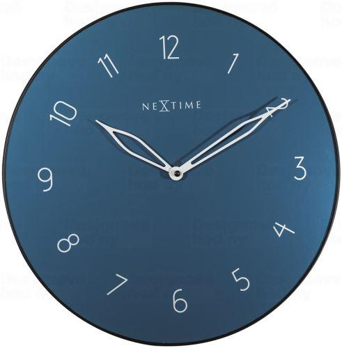 Dizajnové nástenné hodiny 8193bl Nextime Carousel 40cm