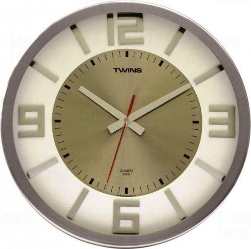 Nástenné hodiny Twins 2361 white 32cm