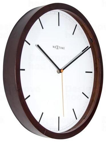 Dizajnové nástenné hodiny 3156br Nextime Company Wood 35cm