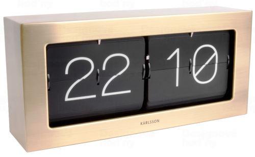 Dizajnové nástenné / stolové preklápací hodiny 5642GD Karlsson 37cm