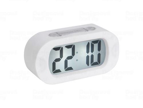 Stolové digitálne hodiny-budík Karlsson KA5753WH