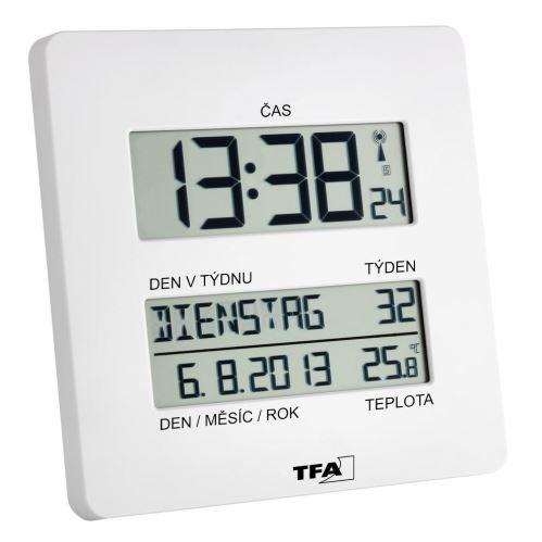 Nástenné hodiny riadené rádiovým signálom DCF TFA 60.4509.02