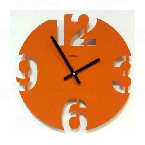 Dizajnové hodiny D & D 299 Meridiana 40cm Meridiana farby kov wenge