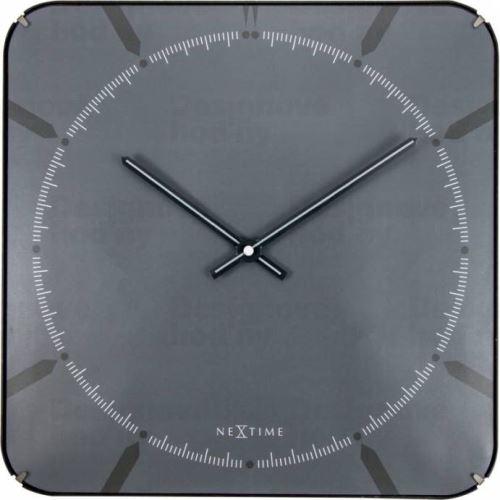 Dizajnové nástenné hodiny 3173 Nextime Michael Dome Grey 35cm