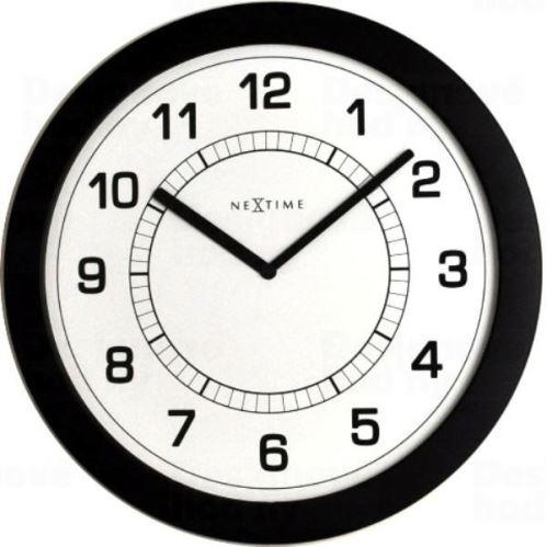 Dizajnové nástenné hodiny 3045zw Nextime Super slim 28cm