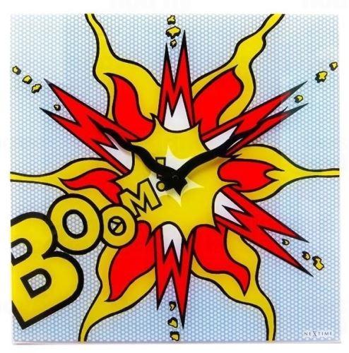 Dizajnové nástenné hodiny 8173 Nextime Boom 43cn