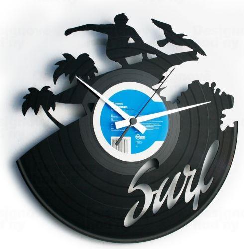 Dizajnové nástenné hodiny Discoclock 095 Surfer 30cm